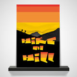 Abstract Graffiti Flyer or cover Design Royalty Free Stock Photography