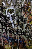 Abstract Graffiti Mesh Background. An image patch of Graffiti on the Wall Stock Photography