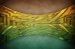 Abstract graffiti style. 3D Abstract Graffiti in hard metal style Royalty Free Illustration
