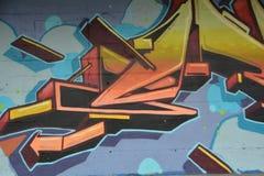 Abstract graffiti on wall in Portland, Oregon stock photo