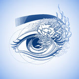 Abstract grafisch oog Stock Afbeeldingen
