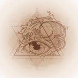 Abstract grafisch oog Stock Foto's
