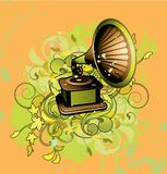 Abstract with gramophone Stock Images