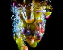 Abstract grapes in water Stock Photography