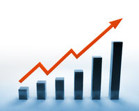 Abstract graph Stock Images