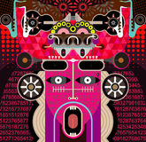Abstract Graphic Art - vector illustration Royalty Free Stock Photo