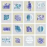 Abstract graphic arts set,  geometric illustrations collec Stock Image