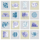 Abstract graphic arts set,  geometric illustrations collec Stock Photo