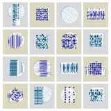 Abstract graphic arts set, vector geometric illustrations collec. Tion Royalty Free Stock Image