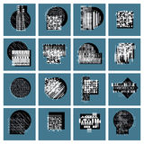 Abstract graphic arts set, vector geometric illustrations collec. Tion Royalty Free Stock Photo