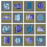 Abstract graphic arts set, vector geometric illustrations collec Stock Photos