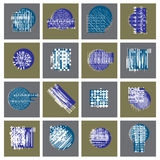 Abstract graphic arts set, vector geometric illustrations collec Royalty Free Stock Image