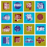 Abstract graphic arts set, vector geometric illustrations collec. Tion Stock Photography