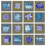 Abstract graphic arts set, vector geometric illustrations collec. Tion Stock Image