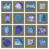 Abstract graphic arts set, vector geometric illustrations collec. Tion. Modern geometric art illustration. n Royalty Free Stock Photos