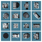 Abstract graphic arts set, vector geometric illustrations. Collection Royalty Free Stock Image