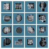 Abstract graphic arts set, vector geometric illustrations. Collection Stock Photo