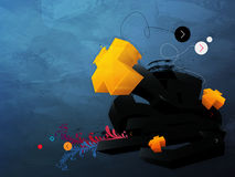 Abstract  graphic, background in 3d graffiti Stock Images