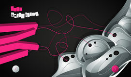 Abstract  graphic, background in 3d graffiti. Style Royalty Free Stock Image