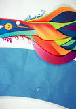Abstract  graphic, background in 3d graffiti. Style Royalty Free Stock Photo