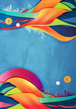 Abstract  graphic, background in 3d graffiti Stock Photos