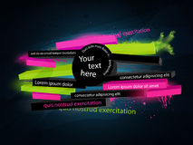 Abstract  graphic, banner. In graffiti style Stock Images