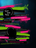 Abstract  graphic, banner. In graffiti style Royalty Free Stock Photography