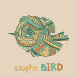 Abstract graphic bird Stock Image