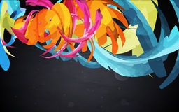 Abstract  graphic, bright background. In graffiti Royalty Free Stock Image