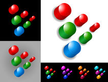 Abstract graphic design. Of 3d icon or symbol Stock Images