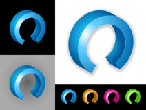 Abstract graphic design. Of 3d icon or symbol Royalty Free Stock Photos