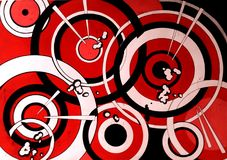 Abstract graphic design background design composition with circles red stock images