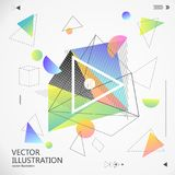 Abstract graphic design consisting of geometric figures. Abstract graphic design consisting of geometric figures,Simplified design Stock Photography