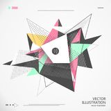 Abstract graphic design consisting of geometric figures. Abstract graphic design consisting of geometric figures,Simplified design Royalty Free Stock Image