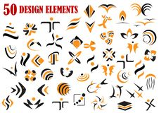 Abstract graphic design elements and symbols Royalty Free Stock Photos