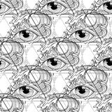 Abstract graphic eye Stock Photography