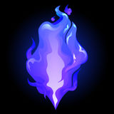 Abstract graphic fire. In dark blue colors. Vector design element isolated on black background Stock Photo