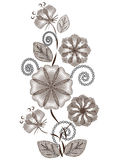 Abstract graphic flowers Stock Photos