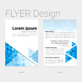 Abstract graphic flyer template design Royalty Free Stock Photo