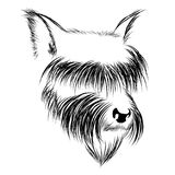 Abstract graphic head of a dog in black and white Royalty Free Stock Photography
