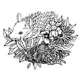 Abstract graphic hedgehog, print Royalty Free Stock Images