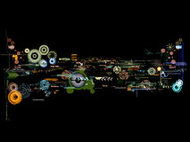 Abstract graphic montage Stock Image