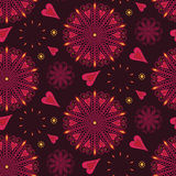 Abstract graphic pattern with hearts Stock Image