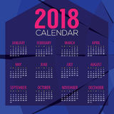 2018 Abstract Graphic Printable Calendar Starts Sunday Royalty Free Stock Image