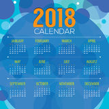 2018 Abstract Graphic Printable Calendar Starts Sunday Royalty Free Stock Images