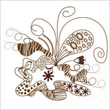 Abstract graphic quality freehand drawing for desi Royalty Free Stock Photo