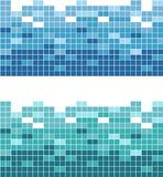 Abstract Graphic square color. Seamless mosaic vector patterned tile. Tile for design repair of apartments. Vector template Layout Royalty Free Stock Images