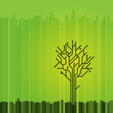 Abstract graphic tree Stock Photos