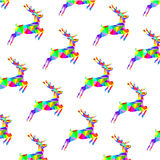 Abstract graphic triangle multicolored deer Stock Photography