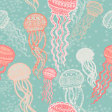 Abstract graphically jellyfish pattern Royalty Free Stock Image